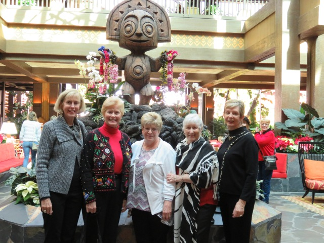 (from left) Sue, Dolores, Claudia, Mary and Eileen