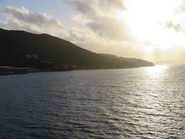 Sunrise over Tortola