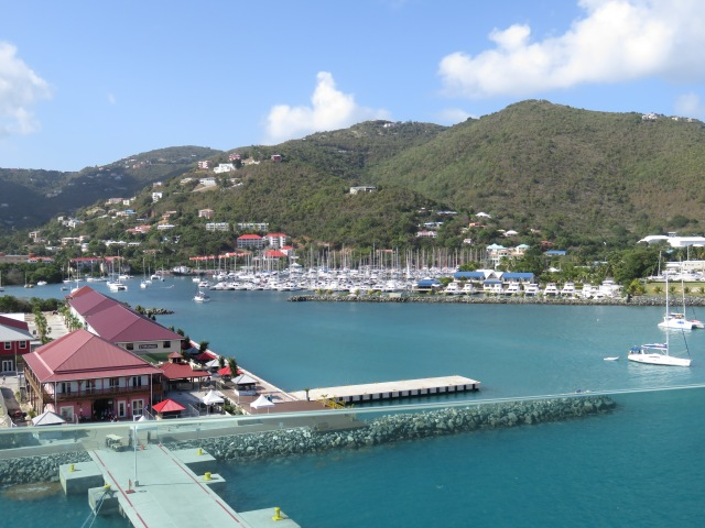 View from deck 12 of the many marinas along the shoreline