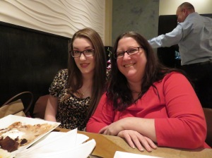 Birthday girl Madalyn and her mom (my daughter) Jennifer