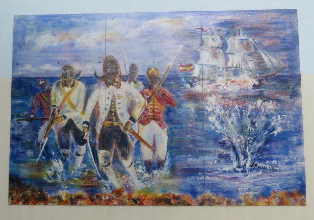 """Spanish Attack"" mural by Caymanian artist John Broad"