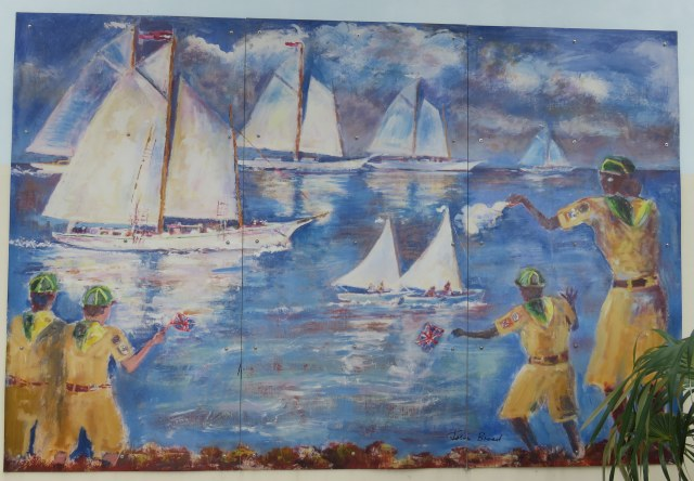 """Easter Regatta"" mural by Caymanian artist John Broad"