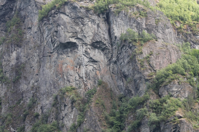 Loved this one. Looks like a man's face in the rocks