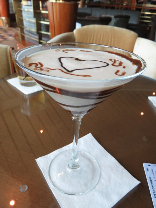 My lovely chocolate martini.