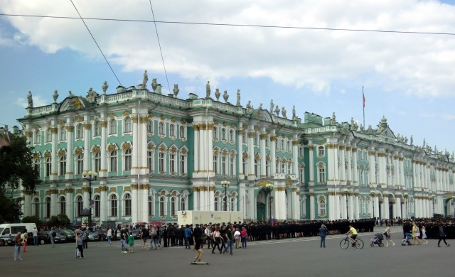View of the Hermitage as we rode down the Nevsky Pros