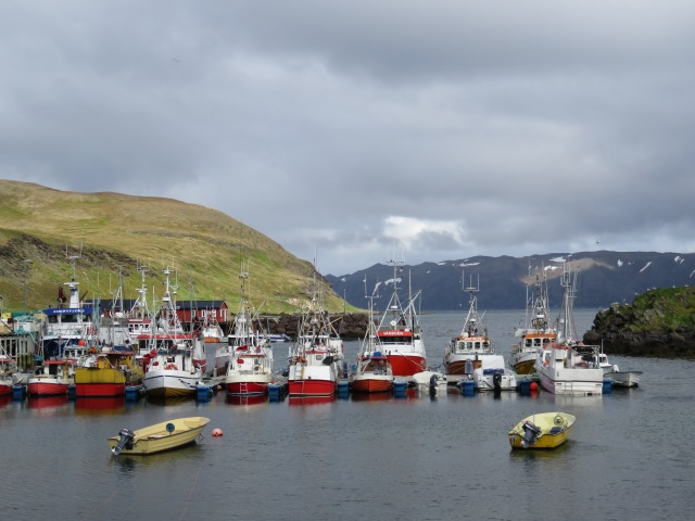 Small fishing village in Honningsvag.