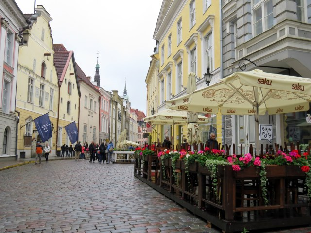 Beautiful street in Tallinn, Estonia