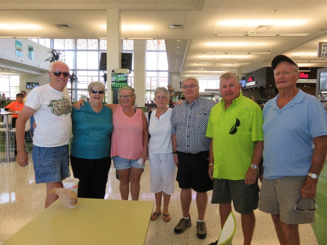 (from left) Randy, Lucille, Connie, Sandy, Bob D., Dennis and Bob K.