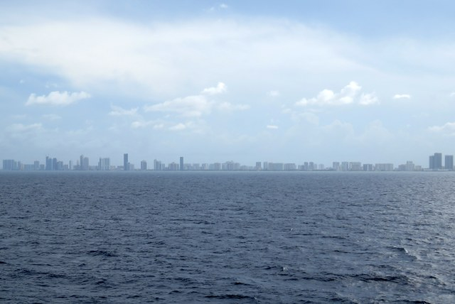 Last look at the Miami skyline as we started our cruise to the Caribbean.