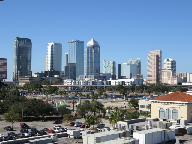 View of Tampa skyline from our balcony